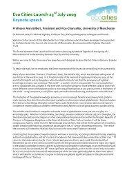 Keynote speech - Prof Alan Gilbert - School of Environment and ...