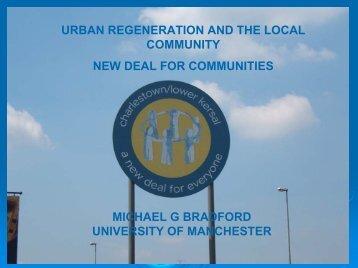 Urban regeneration and the local community - School of ...