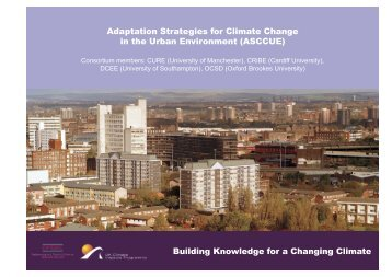 Adaptation Strategies for Climate Change in the Urban - School of ...