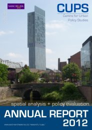 spatial analysis + policy evaluation - School of Environment and ...