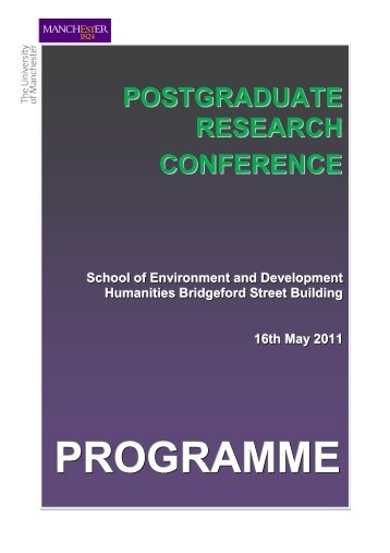 PROGRAMME - School of Environment and Development