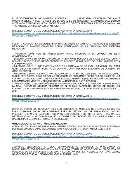 Respuestas Mayo 2013 Secretarãa De La Defensa Nacional