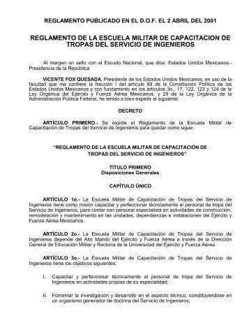 reglamento de la escuela militar de capacitación de tropas del