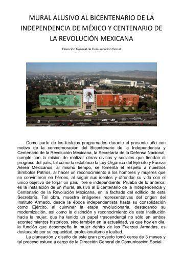 MURAL ALUSIVO AL BICENTENARIO DE LA INDEPENDENCIA DE ...