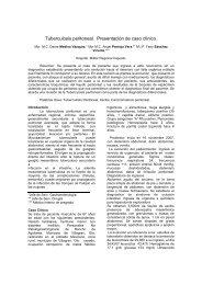 Tuberculosis peritoneal. Presentación de caso clínico.