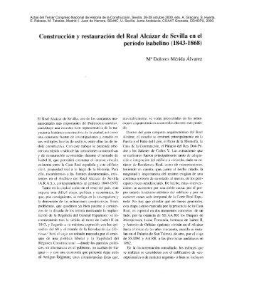 Construcción y restauración del Real Alcázar de Sevilla - Sociedad ...