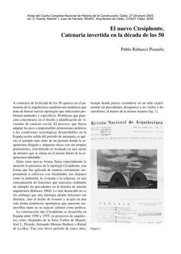 El nuevo Ctesiphonte. Catenaria invertida en la década de los 50