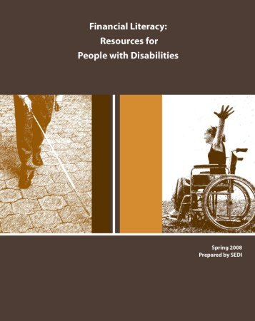 Financial Literacy: Resources for People with Disabilities, 2008