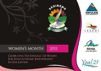 View Women's Month brochure here - Sedibeng District Municipality
