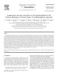 Temperature and age constraints on the metamorphism of ... - ISTerre