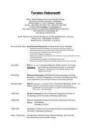 Torsten Haberzettl - Sedimentology & Environmental Geology