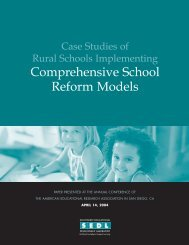 Case Studies of Rural Schools Implementing Comprehensive - SEDL