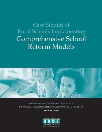 Case Studies of Rural Schools Implementing Comprehensive - SEDL