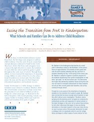 Easing the Transition from PreK to Kindergarten: What ... - SEDL