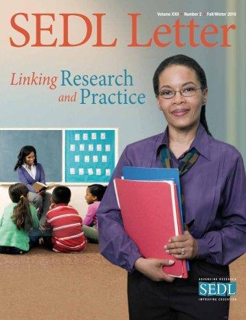 SEDL Letter FALL/WINTER 2010