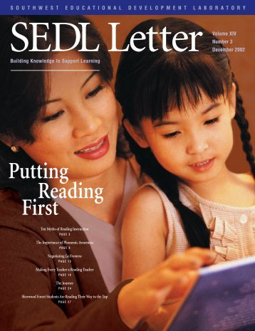 SEDL Letter: Putting Reading First