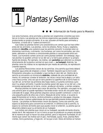 Plantas y Semillas - SEDL