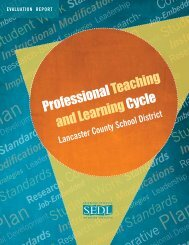 Professional Teaching and Learning Cycle, Lancaster ... - SEDL