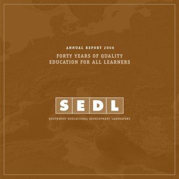 2006 Annual Report - SEDL