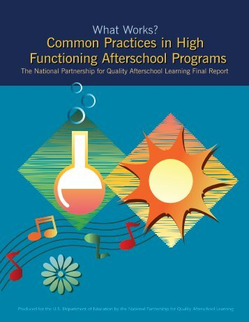 Common Practices in High Functioning Afterschool Programs - SEDL