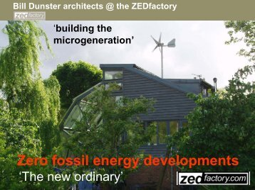 Zero fossil energy developments