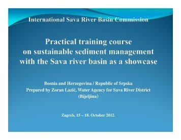 Sediment status Bosnia & Herzegovina - SedNet
