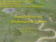 Beneficial reuse and morphological restoration - SedNet