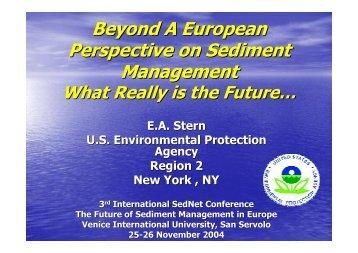 Beyond A European Perspective on Sediment Management - SedNet