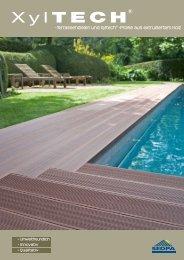 -Terrassendielen und Xyltech ® -Profile aus extrudiertem Holz - Sedpa