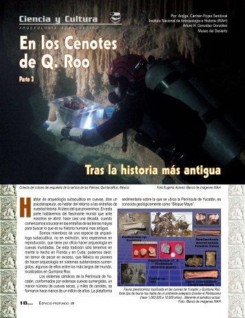 En los cenotes de Quintana Roo