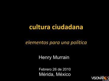 cultura ciudadana elementos para una política reducción de ...