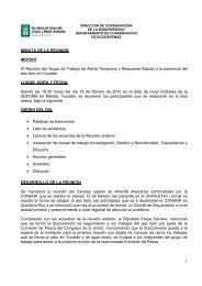 1 MINUTA DE LA REUNION MOTIVO 5ª Reunión del Grupo de ...