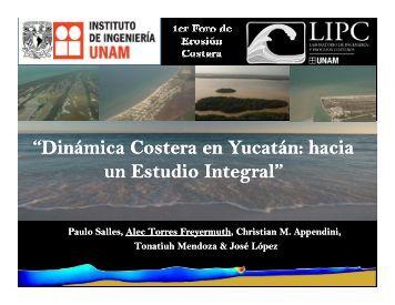"""""""Dinámica Costera en Yucatán: en Yucatán: hacia un Estudio ..."""