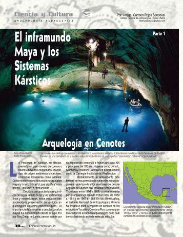 El inframundo maya y los sistemas kársticos, parte I. Arqueología de ...
