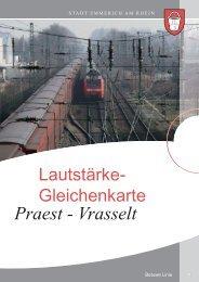Lautstärkegleichenkarte Praest bis Vrasselt - Emmerich