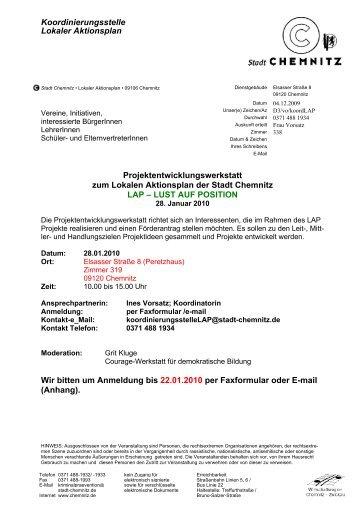 Koordinierungsstelle Lokaler Aktionsplan - Chemnitzer ...