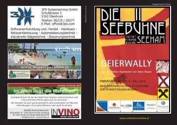 """Programmheft """"Geierwally"""" - Seebühne Seeham"""