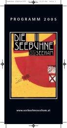 PROGRAMM 2005 - Seebühne Seeham
