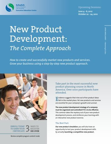 New Product Development: - Schulich Executive Education Centre ...