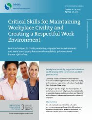 Critical Skills for Maintaining Workplace Civility and Creating a ...