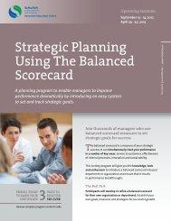 Strategic Planning Using The Balanced Scorecard - Schulich ...