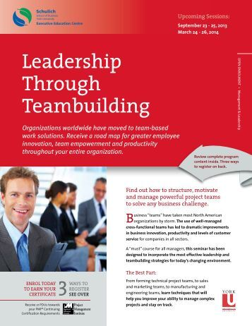 Download PDF Brochure - Schulich Executive Education Centre ...