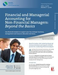 Financial and Managerial Accounting for Non-Financial Managers ...