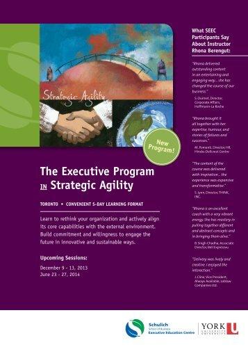 Strategic Agility - Schulich Executive Education Centre - York ...