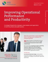 Improving Operational Performance and Productivity - Schulich ...