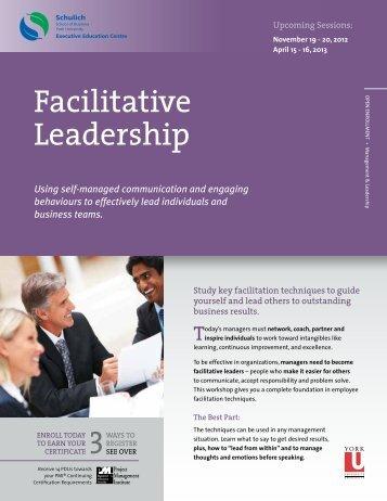 Facilitative Leadership - Schulich Executive Education Centre - York ...