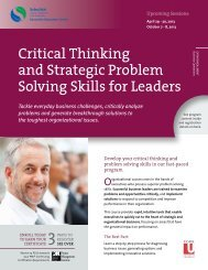 Critical Thinking and Strategic Problem Solving Skills for Leaders