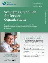 Six Sigma Green Belt for Service Organizations - Schulich Executive ...