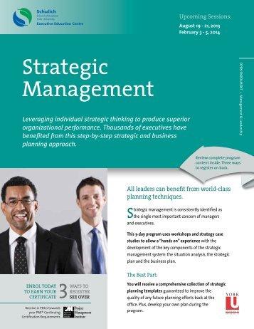 Strategic Management - Schulich Executive Education Centre - York ...