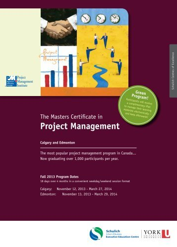 Project Management - Schulich Executive Education Centre - York ...